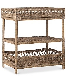 Ajani Wicker 3-Tier Accent Table, Quick Ship
