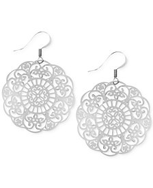 Essentials Filigree Disc Drop Earrings