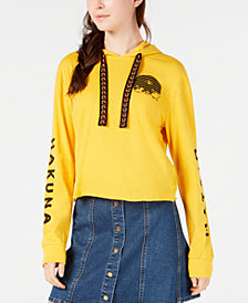 Love Tribe Juniors' Disney The Lion King Cropped Hoodie