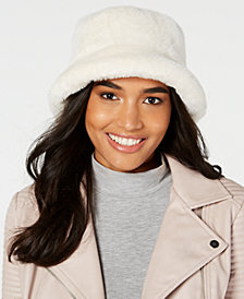 Steve Madden Solid Faux-Fur Bucket Hat