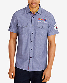 Nautica Men's Classic Fit Chambray Woven Shirt