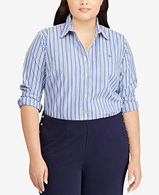 Lauren Ralph Lauren Plus Size Embroidered Shirt