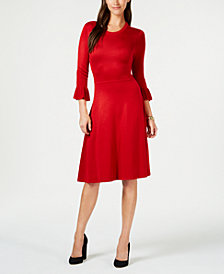 Jessica Howard Petite 3/4-Sleeve Sweater Dress