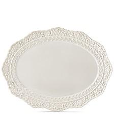 Lenox Chelse Muse Sculptured Oval Platter