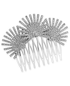 I.N.C. Silver-Tone Crystal Starburst Hair Comb, Created for Macy's