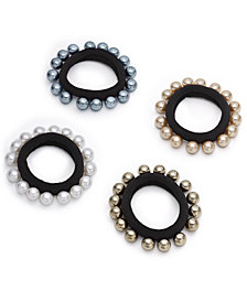 I.N.C. 3-Pc. Set Imitation-Pearl Hair Ties, Created for Macy's
