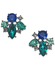 I.N.C. Hematite-Tone Multi-Crystal Cluster Stud Earrings, Created for Macy's