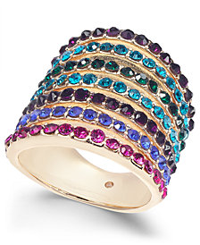I.N.C. Gold-Tone Stone Multi-Band Statement Ring, Created for Macy's