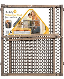 Safety 1st® Vintage Grey Wood Doorway Gate