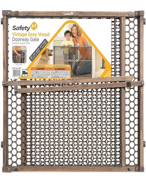 Safety 1st Vintage Grey Wood Doorway Gate
