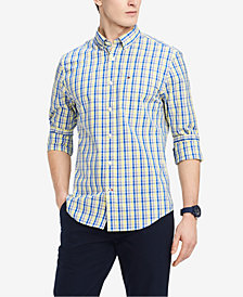 Tommy Hilfiger Men's Classic Fit Plaid Shirt, Created for Macy's