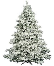 4.5' Flocked Alaskan Pine Artificial Christmas Tree Unlit