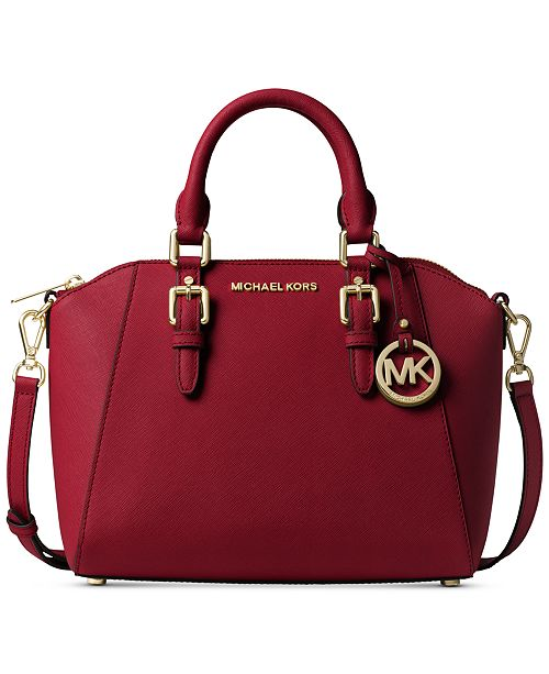 b6656dc403f4 Michael Kors Ciara Small Saffiano Leather Satchel & Reviews ...
