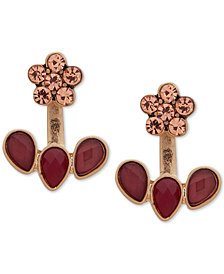 lonna & lilly Gold-Tone Crystal & Stone Flower Jacket Earrings