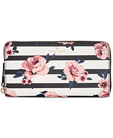 kate spade new york Hyde Lane Rose Striped Lacey Wallet