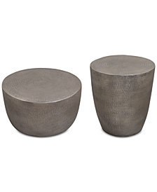 Nova Metal Table Furniture, 2-Pc. Set (Drum Coffee Table & Drum End Table)