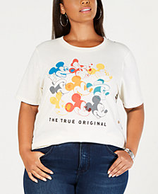 Mighty Fine Plus Size Mickey Mouse True Original Graphic T-Shirt