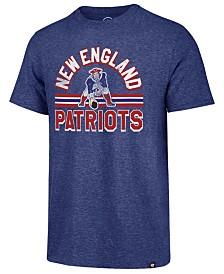 '47 Brand Men's New England Patriots Team Stripe Match Tri-Blend T-Shirt