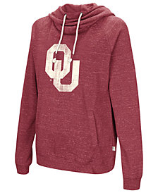 Colosseum Women's Oklahoma Sooners Speckled Fleece Hooded Sweatshirt
