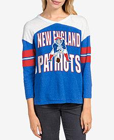 Junk Food Women's New England Patriots Liberty Throwback Raglan T-Shirt