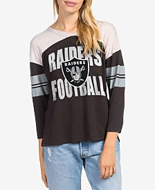 Junk Food Women's Oakland Raiders Liberty Throwback Raglan T-Shirt