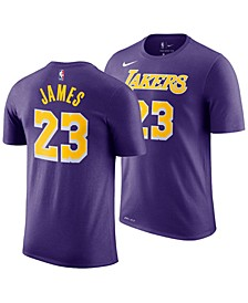 LeBron James Los Angeles Lakers Statement Name and Number T-Shirt, Big Boys (8-20)