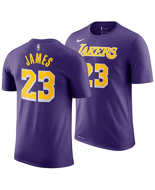 f5481e3e9 ... Nike LeBron James Los Angeles Lakers Statement Name and Number T-Shirt
