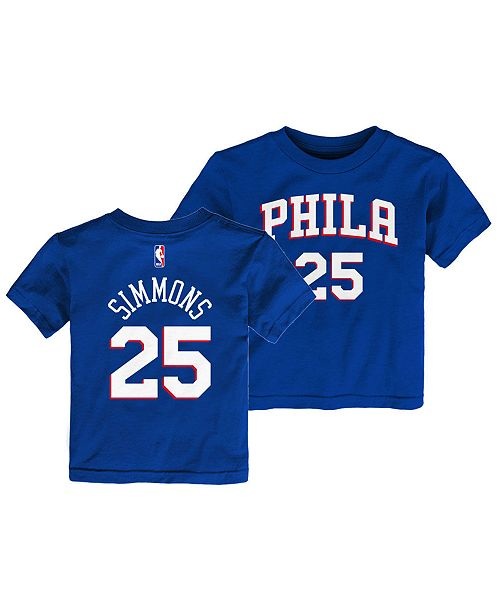 8292eeade23 Outerstuff Ben Simmons Philadelphia 76ers Replica Name and Number T ...