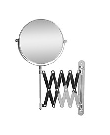 Extendable Wall Mount Bath Magnifying Makeup Mirror
