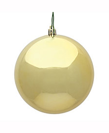 "6"" Gold Shiny Ball Christmas Ornament, 4 per Box"