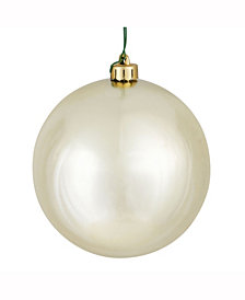 "6"" Champagne Shiny Ball Christmas Ornament, 4 per Box"