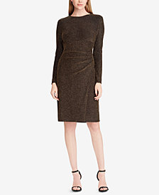 Lauren Ralph Lauren Metallic Ruched Dress