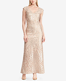 Lauren Ralph Lauren Embroidered Gown