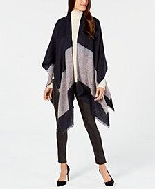 Calvin Klein Colorblocked Woven Poncho