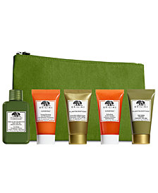 Complementary Dr. Andrew Weil Mega-Mushroom Treatment Lotion and cosmetic bag with any $55 Origins purchase + your Choice of a Ginzing or Plantscription Duo