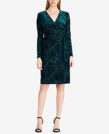 Lauren Ralph Lauren Petite Velvet Wrap Dress