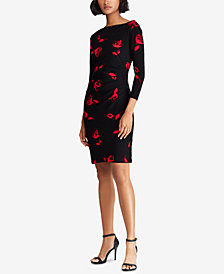 Lauren Ralph Lauren Floral Printed Jersey Dress, Created for Macy's
