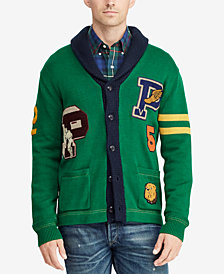 Polo Ralph Lauren Men's Letterman Cardigan