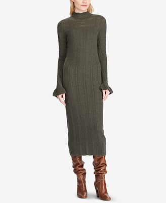 Polo Ralph Lauren Pointelle Wool Sweater Dress Dresses Women