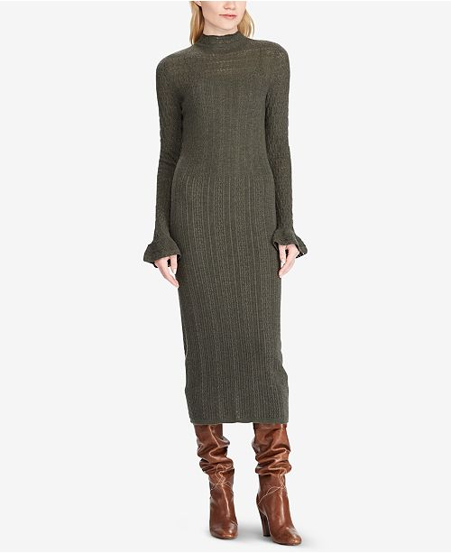 573e079e0df Polo Ralph Lauren Pointelle Wool Sweater Dress   Reviews ...