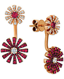 Le Vian® Certified Ruby (9/10 ct. t.w.) & Diamond (5/8 ct. t.w.) Earring Jackets in 14k Rose Gold