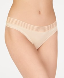 Calvin Klein Striped-Waist Thong QD3670