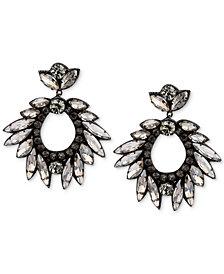 Deepa Silver-Tone Crystal Drop Earrings