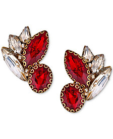 Deepa Gold-Tone Crystal & Stone Stud Earrings