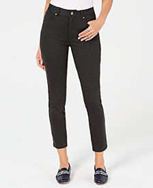 Tommy Hilfiger Skinny Five-Pocket Ponté Pants, Created for Macy's
