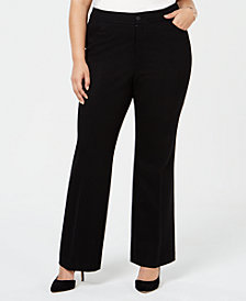 Anne Klein Plus Size Wide-Leg Trousers