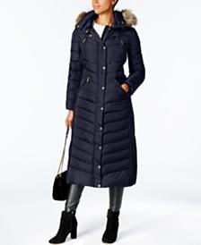 Michael Michael Kors Faux-Fur Trim Hooded Down Coat