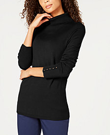 JM Collection Petite Turtleneck Sweater, Created for Macy's
