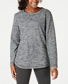 Karen Scott Space-Dye Microfleece Top, Created for Macy's
