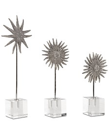 Uttermost Sunflower Starfish Sculptures Set of 3